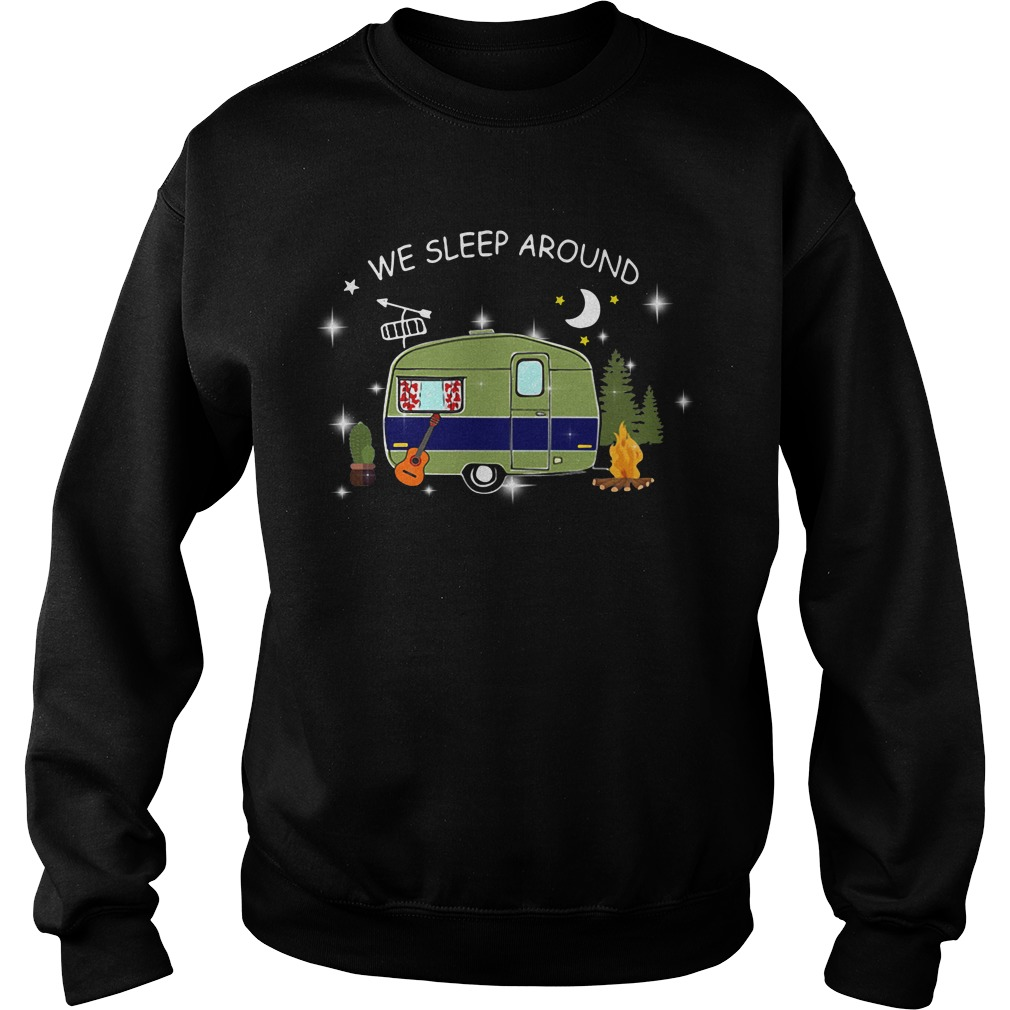 We sleep around camping Sweater