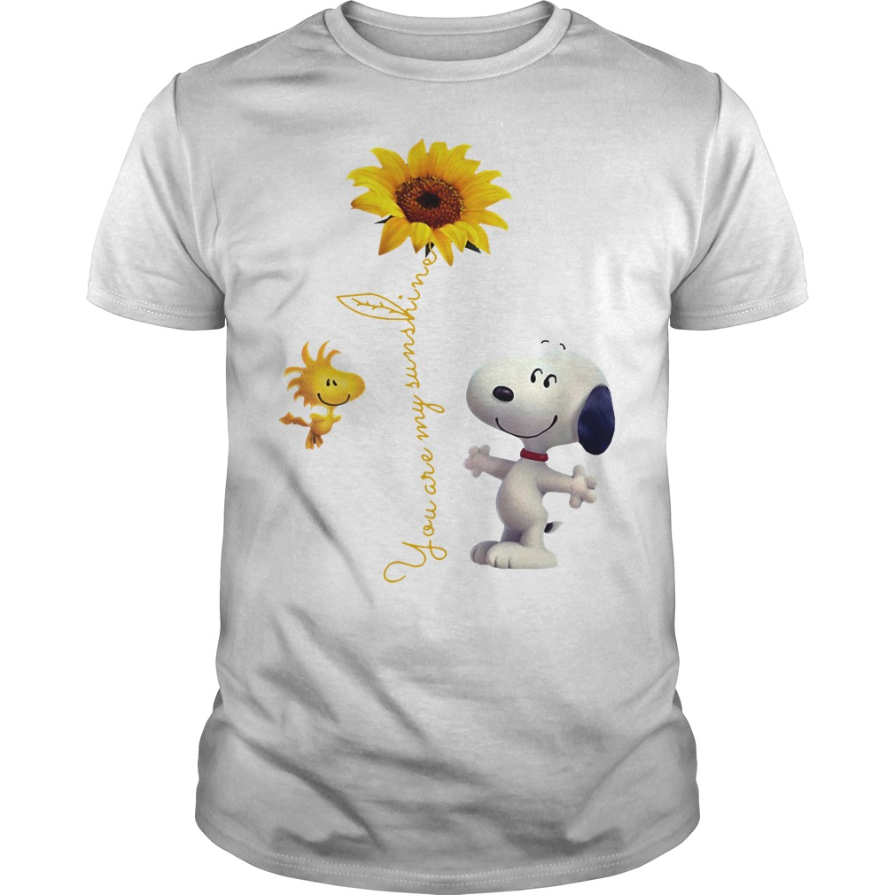 Snoopy and Woodstock You are My sunshine Sunflower Guys shirt