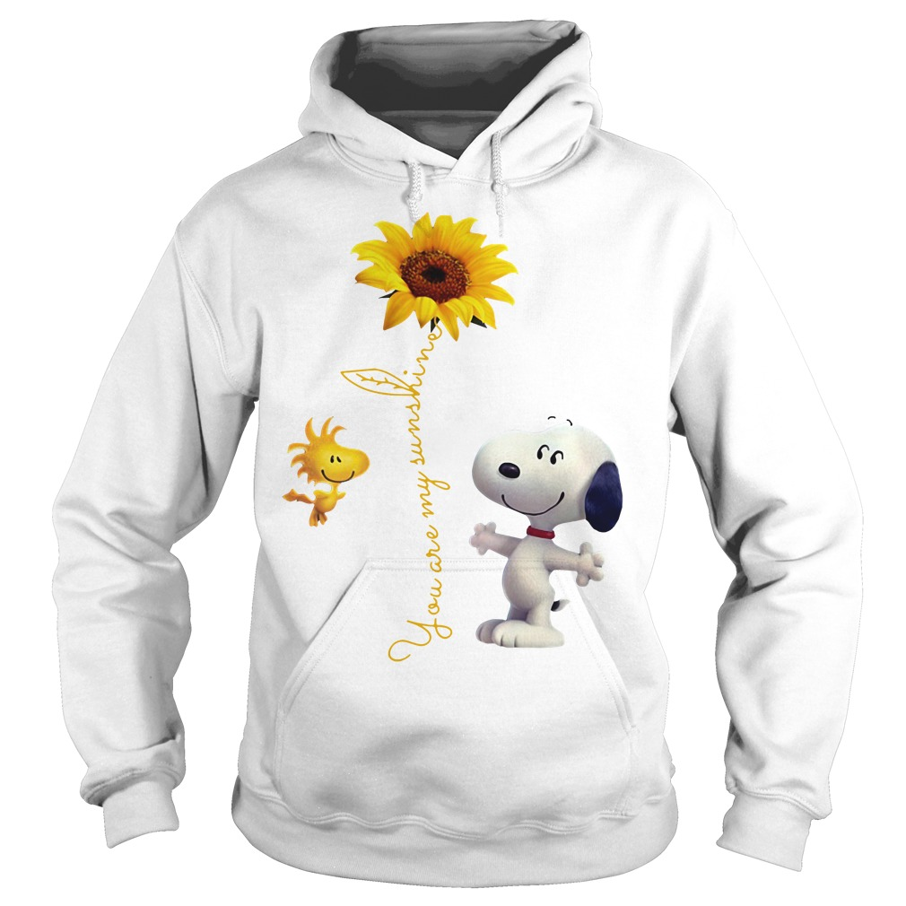 Snoopy and Woodstock You are My sunshine Sunflower Hoodie
