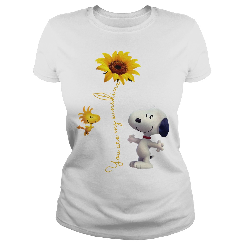 Snoopy and Woodstock You are My sunshine Sunflower Ladies tee