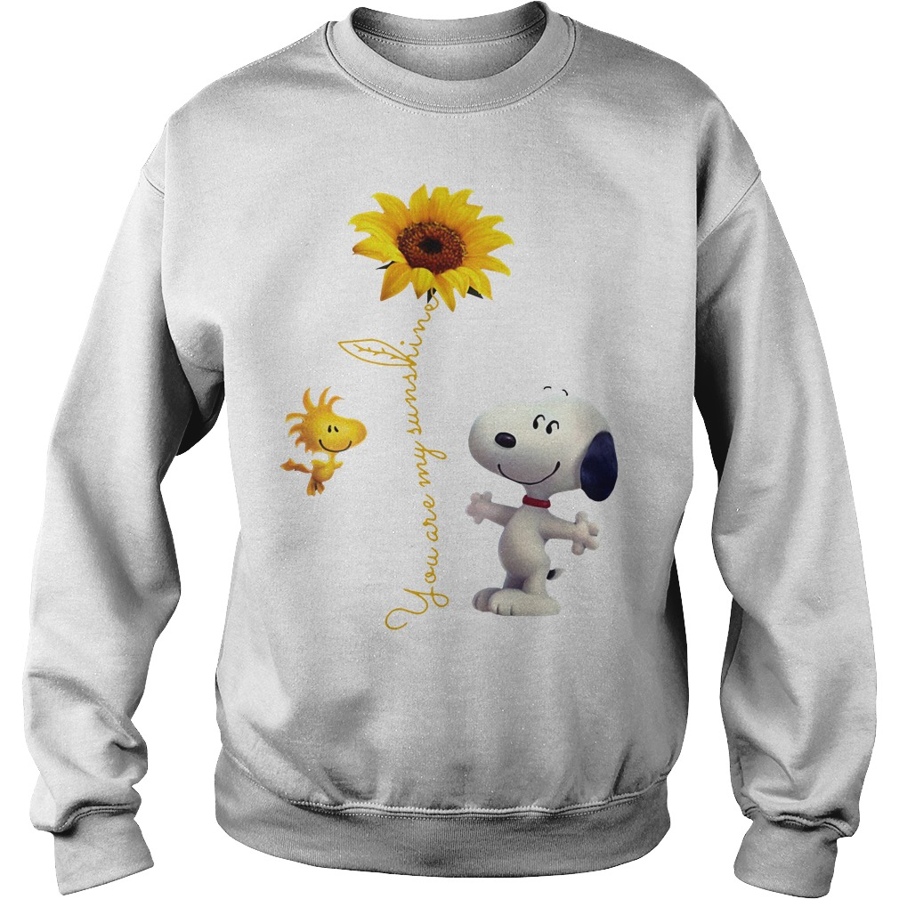 Snoopy and Woodstock You are My sunshine Sunflower Sweater