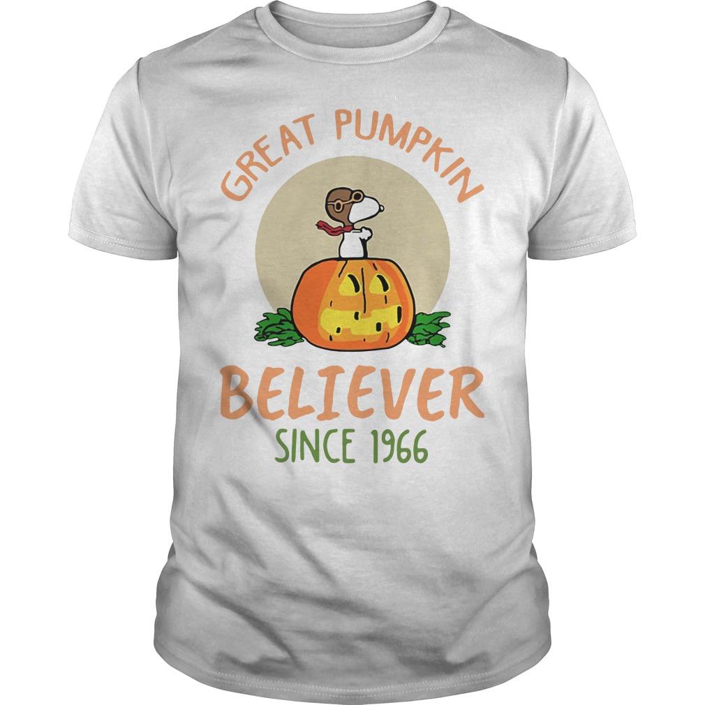 Snoopy – Great Pumpkin Believer Since 1966 Guys shirt