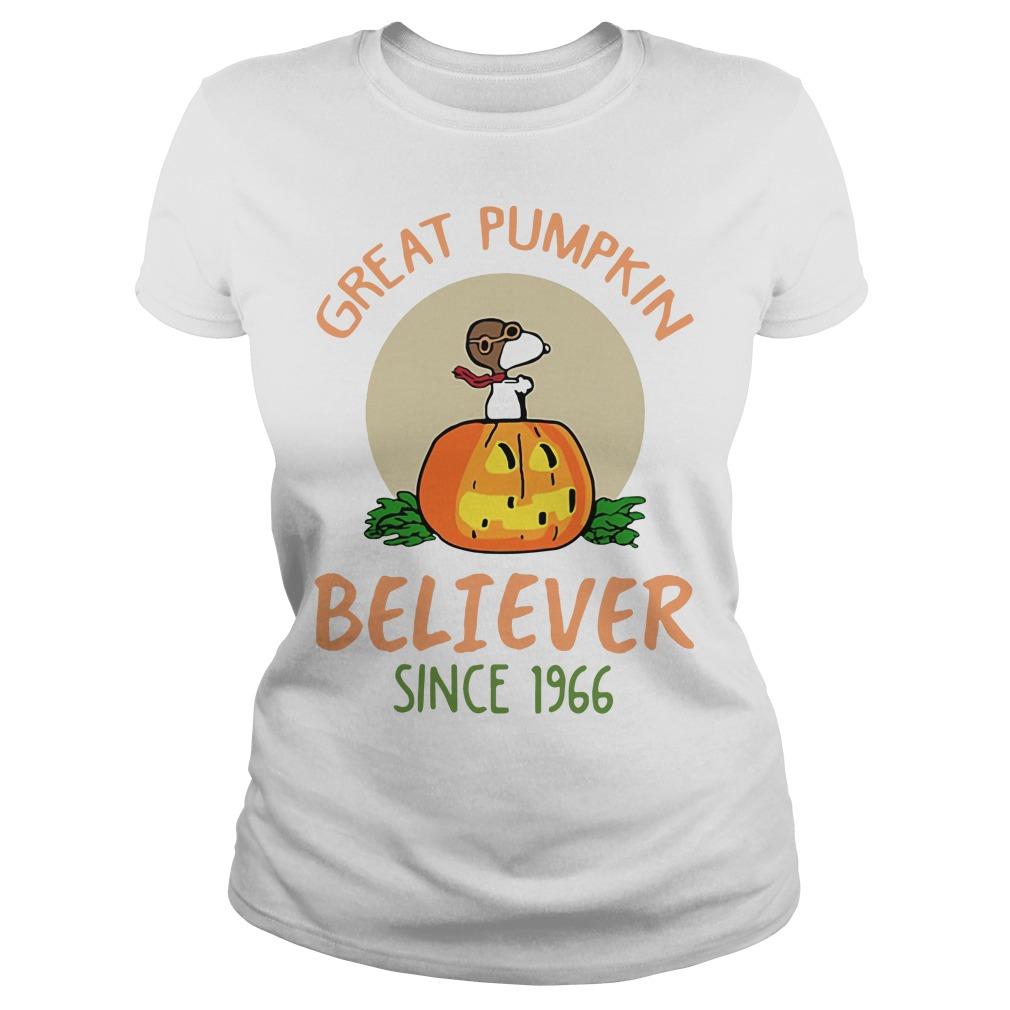 Snoopy – Great Pumpkin Believer Since 1966 Ladies tee