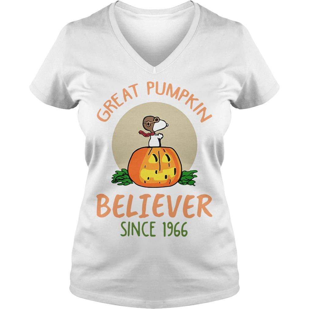 Snoopy – Great Pumpkin Believer Since 1966 V-neck T-shirt