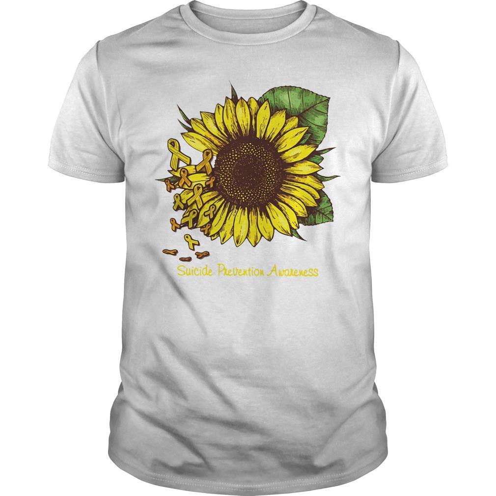 Sunflower suicide prevention awareness Guys shirt