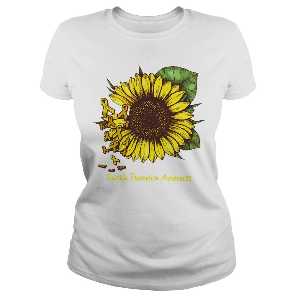 Sunflower suicide prevention awareness Ladies tee