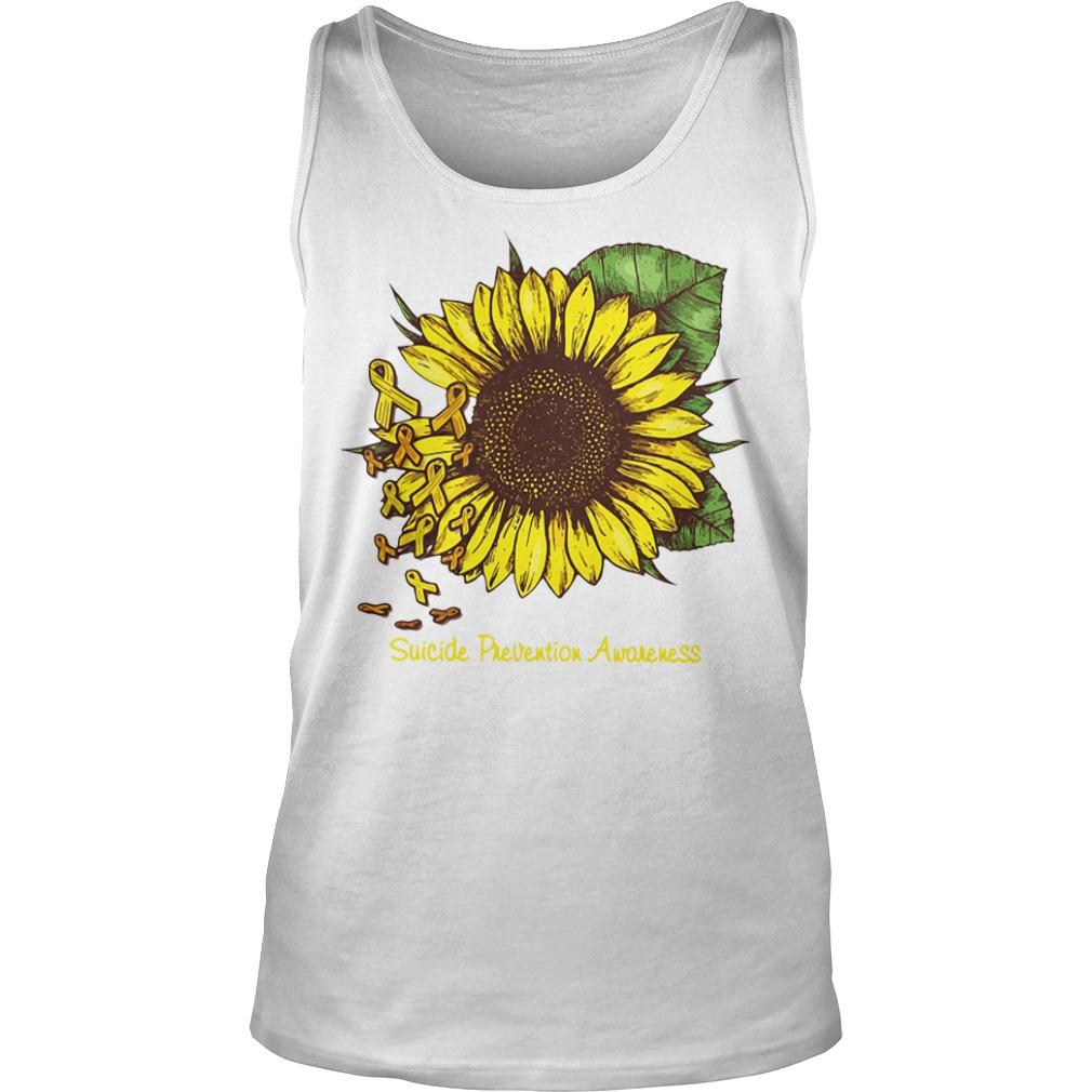 Sunflower suicide prevention awareness Tank top