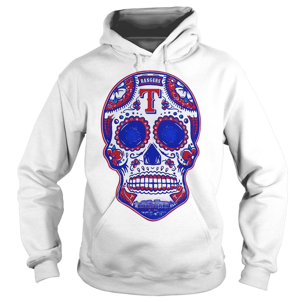 Texas Rangers skull Hoodie