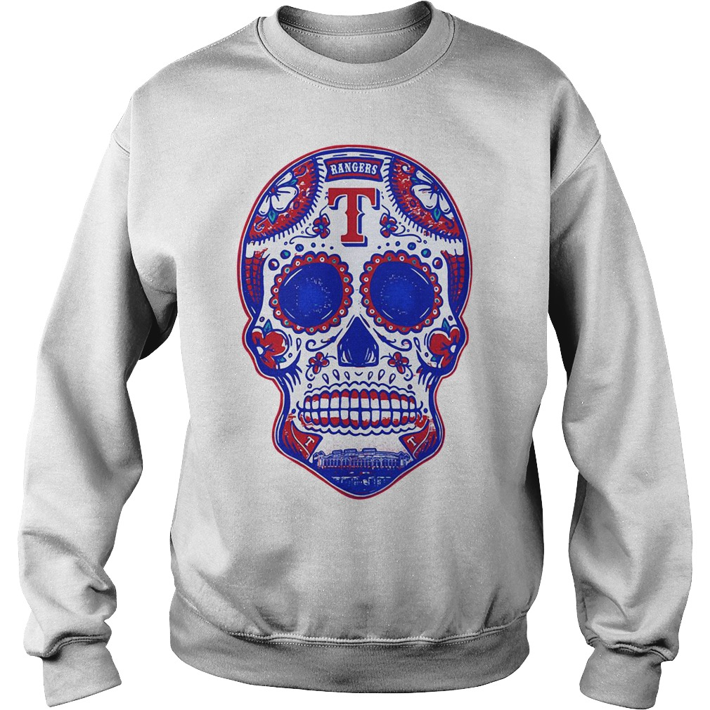 Texas Rangers skull Sweater