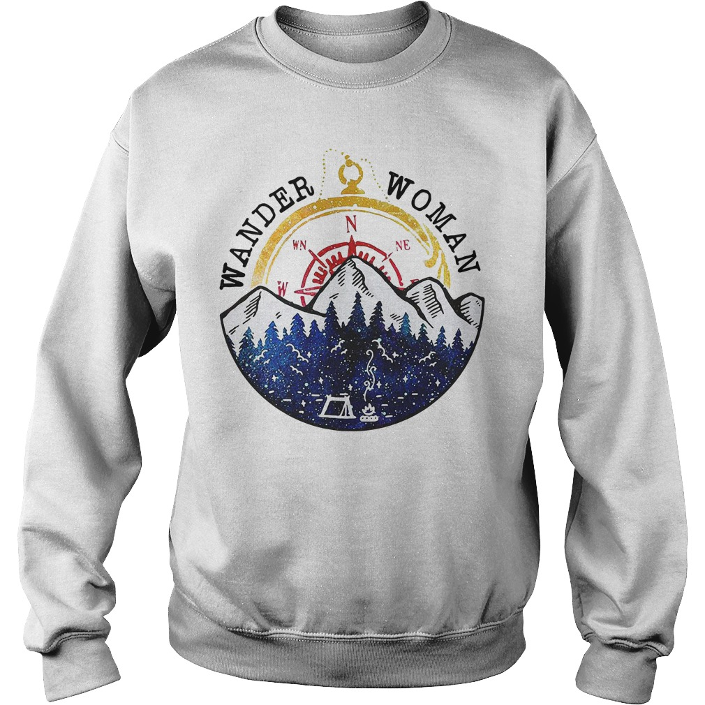 Wander Woman Loves Camping funny Sweater