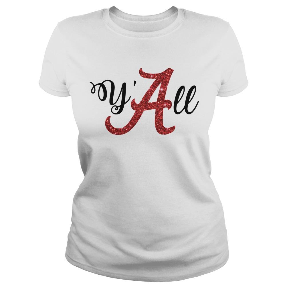 Y'all Alabama Crimson Ladies tee