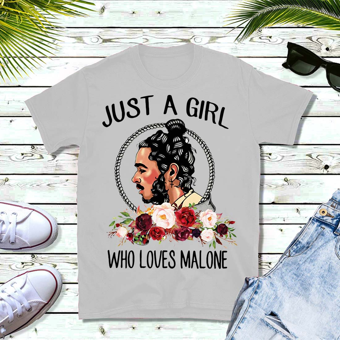 Just a girl who loves Malone shirt