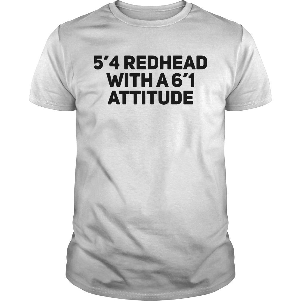 5'4 redhead with a 6'1 attitude Guys shirt
