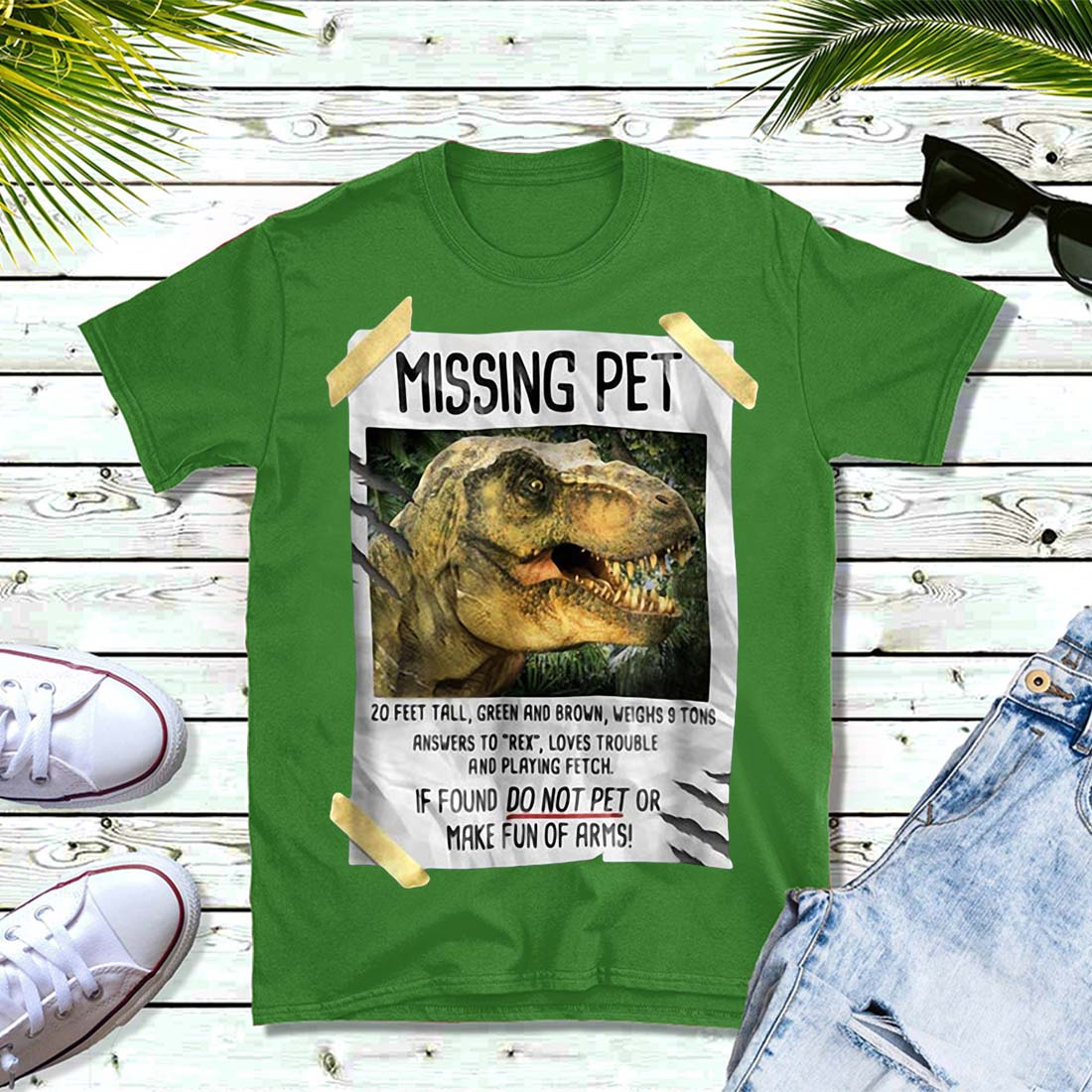 Jurassic park Missing pet shirt