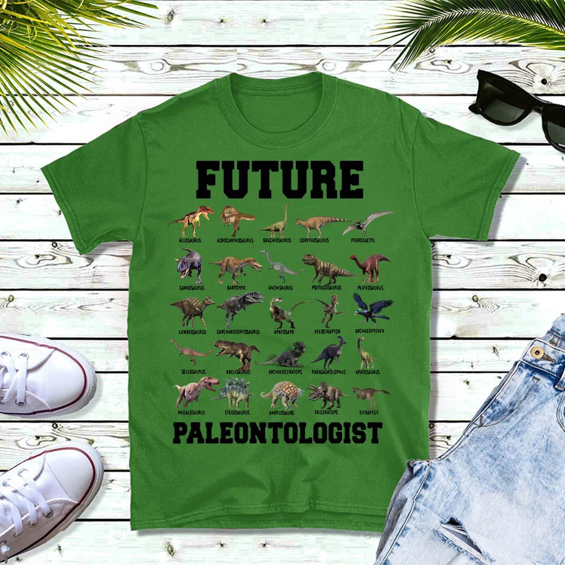 Future Paleontologist Cool Dinosaur Lover Shirt
