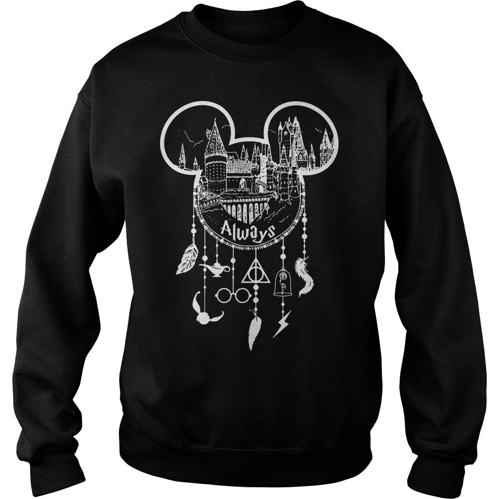 Always Mickey head Harry Potter Hogwarts dreamcatcher all disney Sweater
