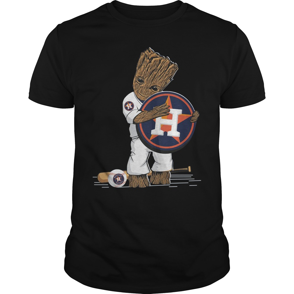 Baby Groot hug Houston Astros Guys shirt