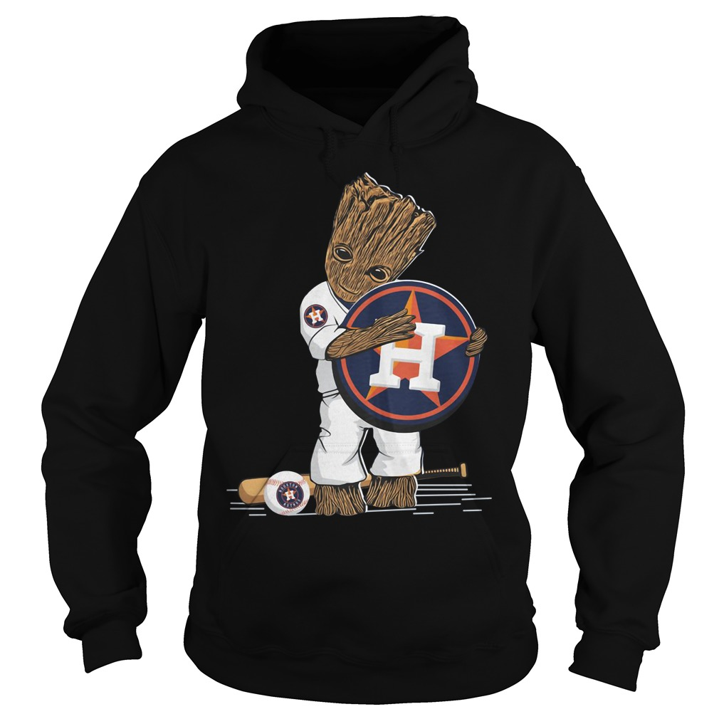 Baby Groot hug Houston Astros Hoodie
