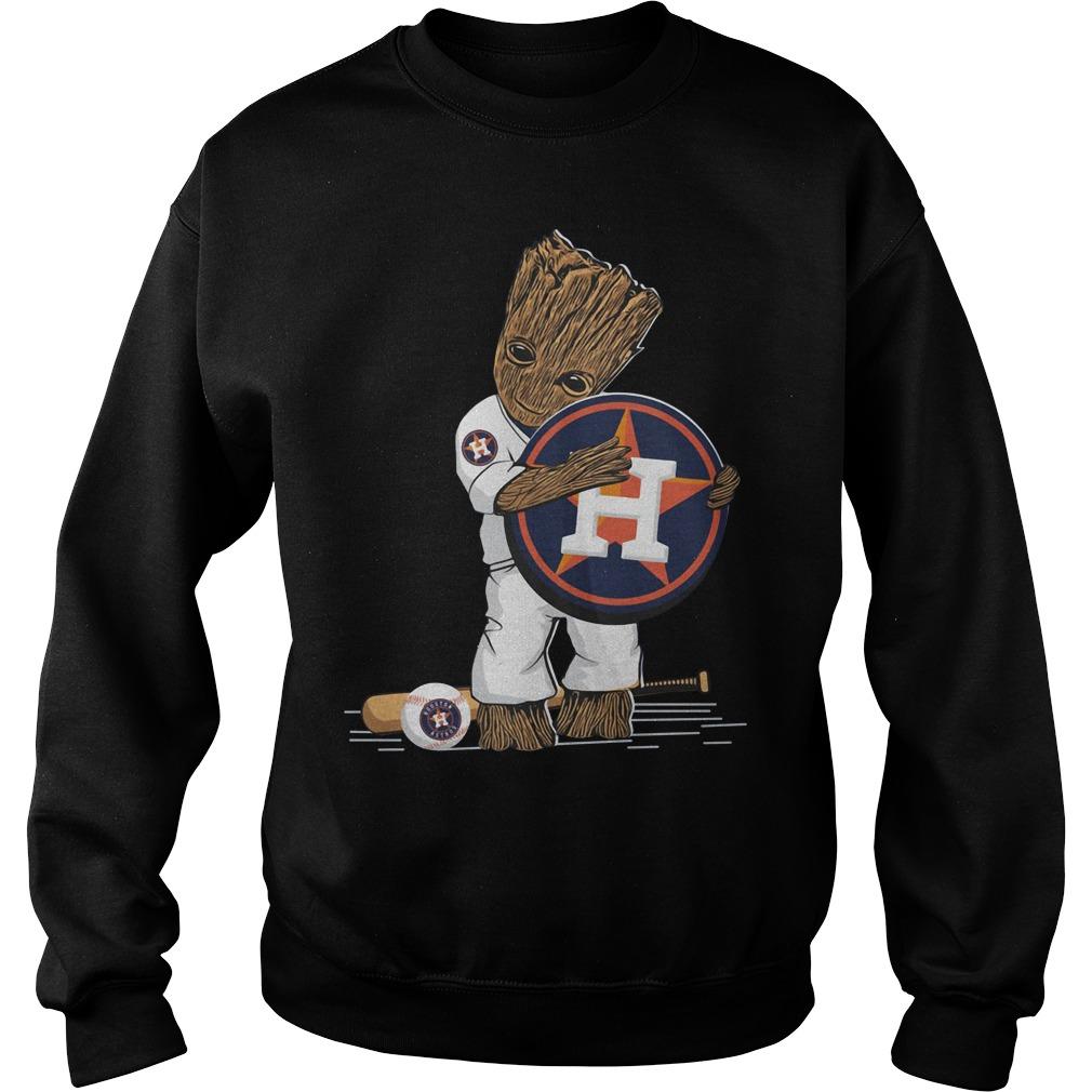 Baby Groot hug Houston Astros Sweater