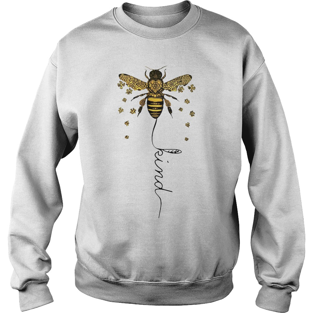 Bee kind Be kin Autism Sweater