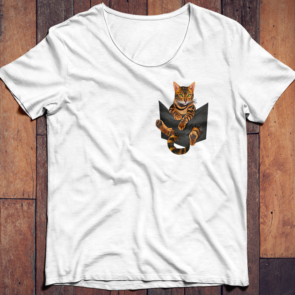 Bengal Cat In Pocket shirt
