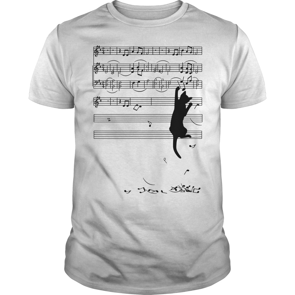 Black cat note music Guys shirtBlack cat note music Guys shirt