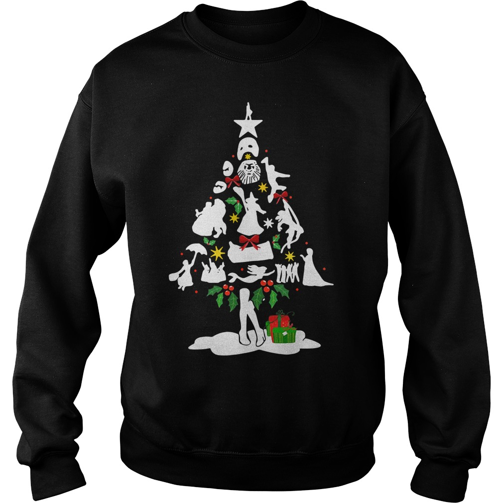 Broadway musical theatre christmas tree Sweater