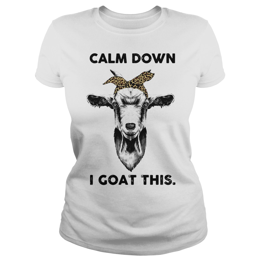 Calm down goat head sketch I goat this Ladies tee