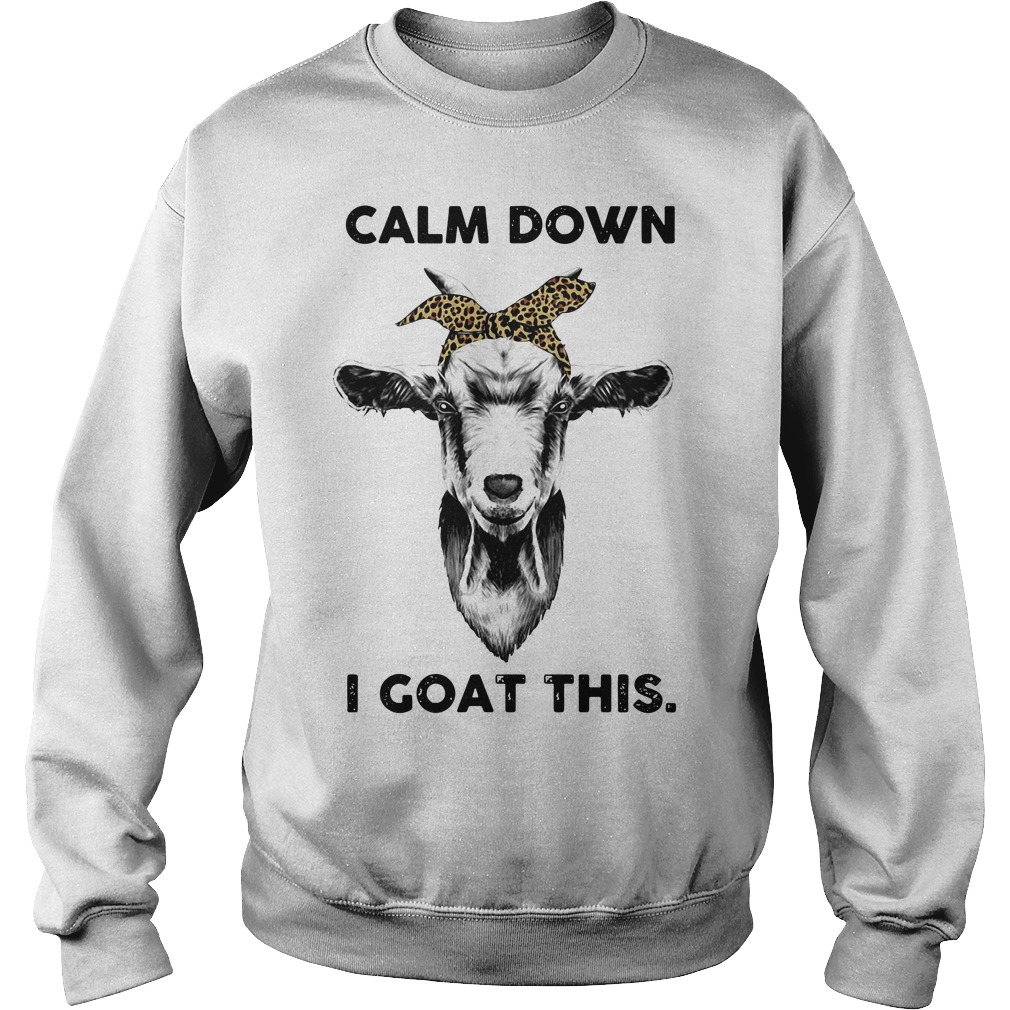 Calm down goat head sketch I goat this Sweater