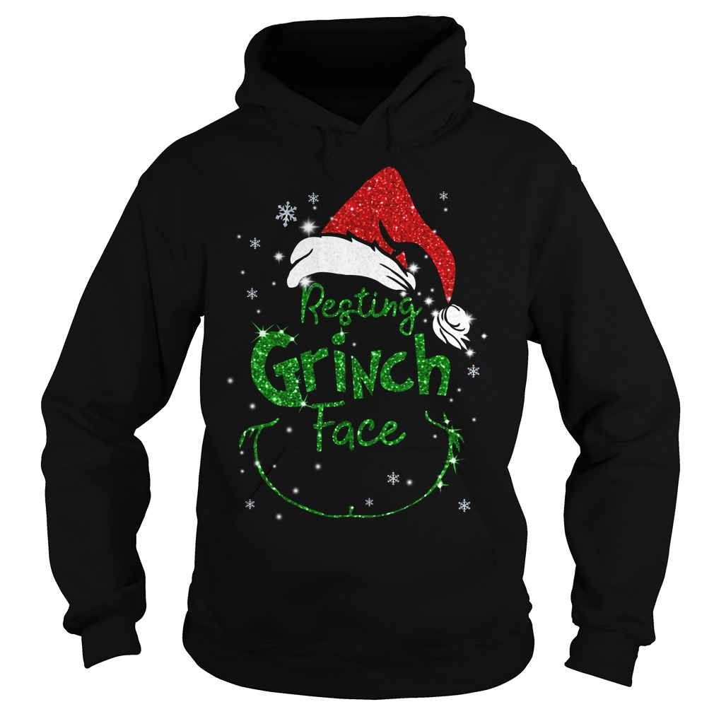 Christmas resting Grinch face Hoodie