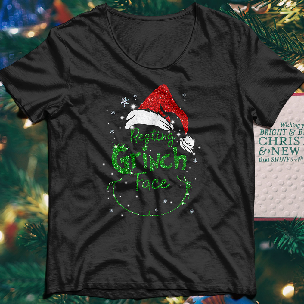 Christmas resting Grinch face shirt