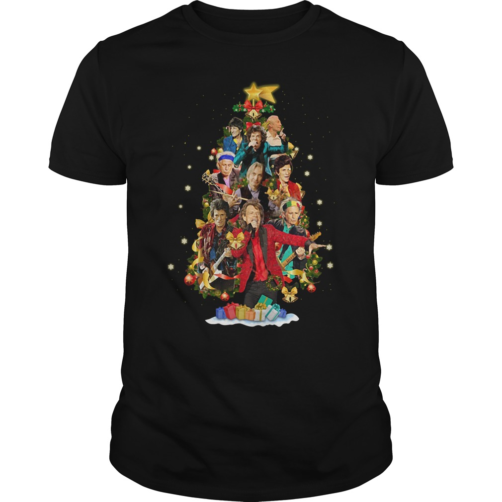 Christmas The Rolling Stones tree Guys shirt