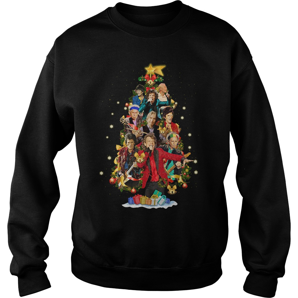 Christmas The Rolling Stones tree Sweater