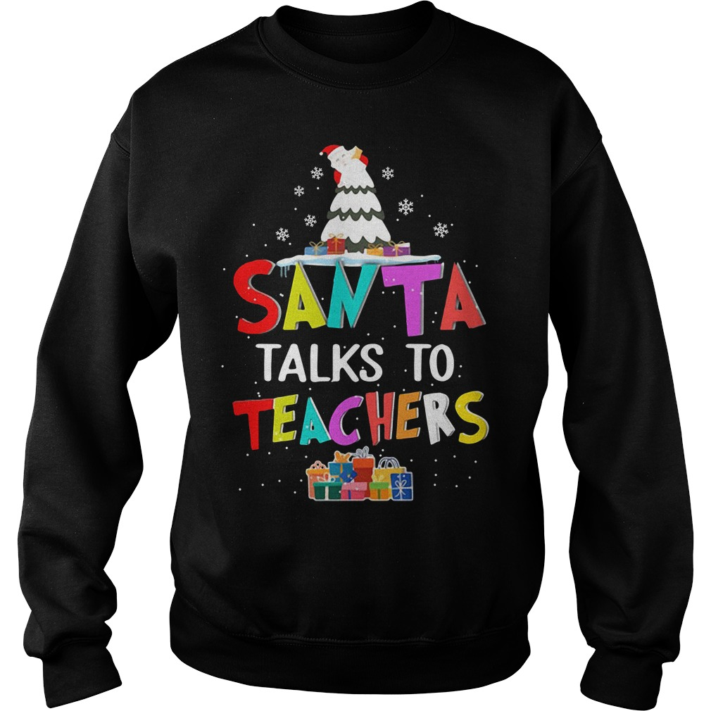 Christmas Santa talks to teachers Sweater