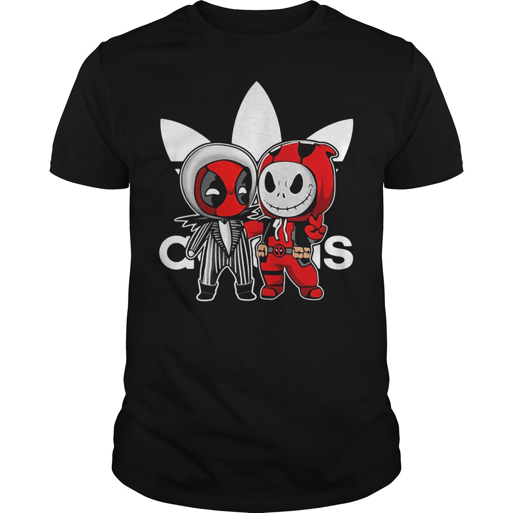 Deadpool and Jack Skellington Adidas Guys shirt