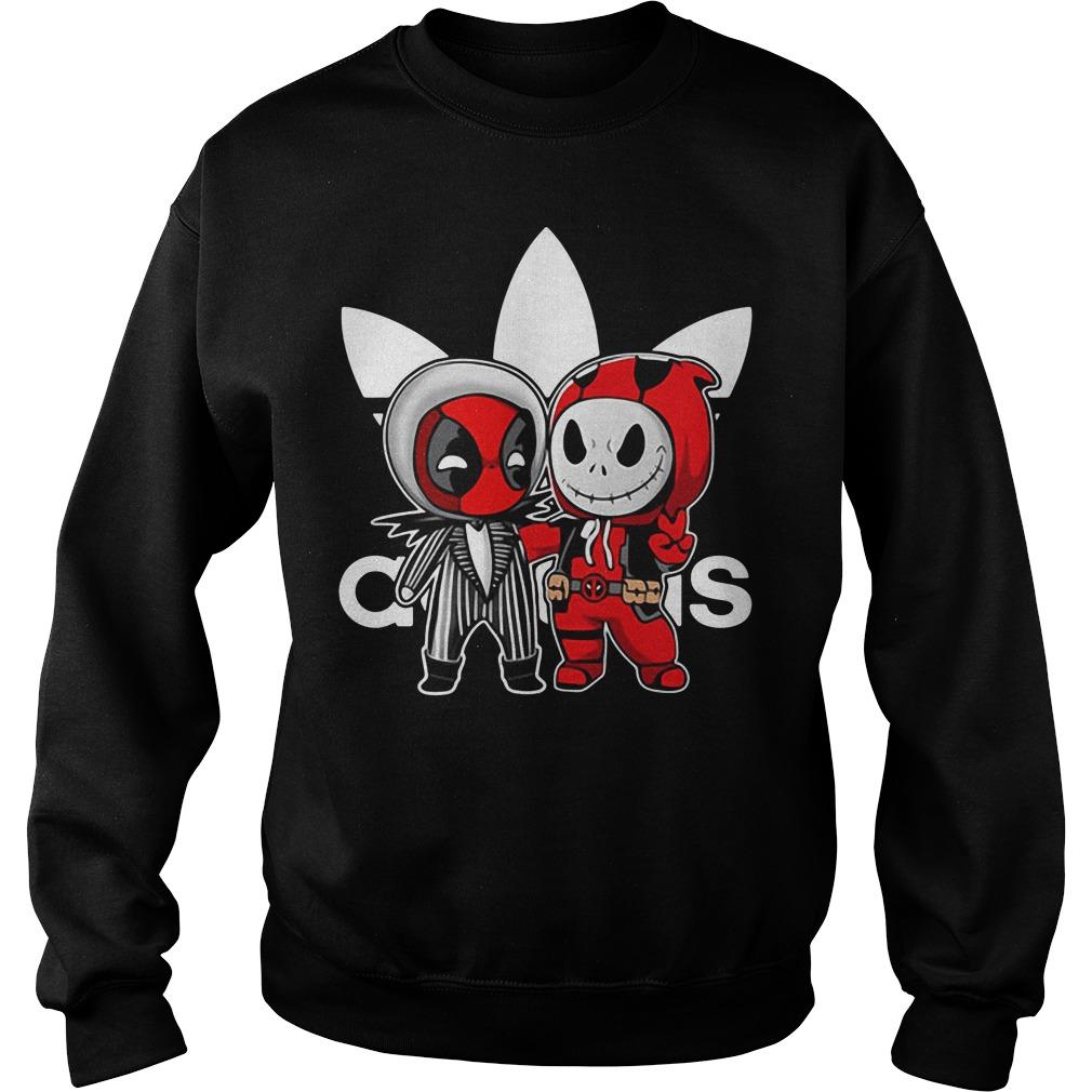 Deadpool and Jack Skellington Adidas Sweater