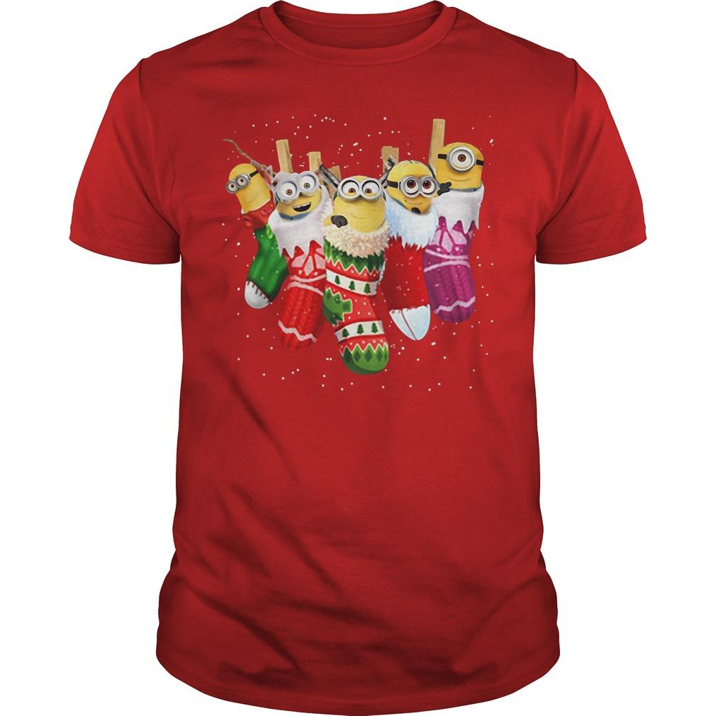 Despicable Me Minion in socks Christmas Guys shirt