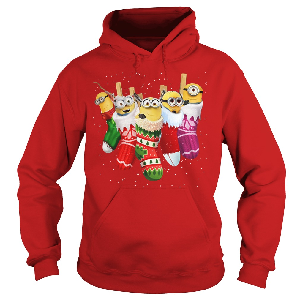 Despicable Me Minion in socks Christmas Hoodie
