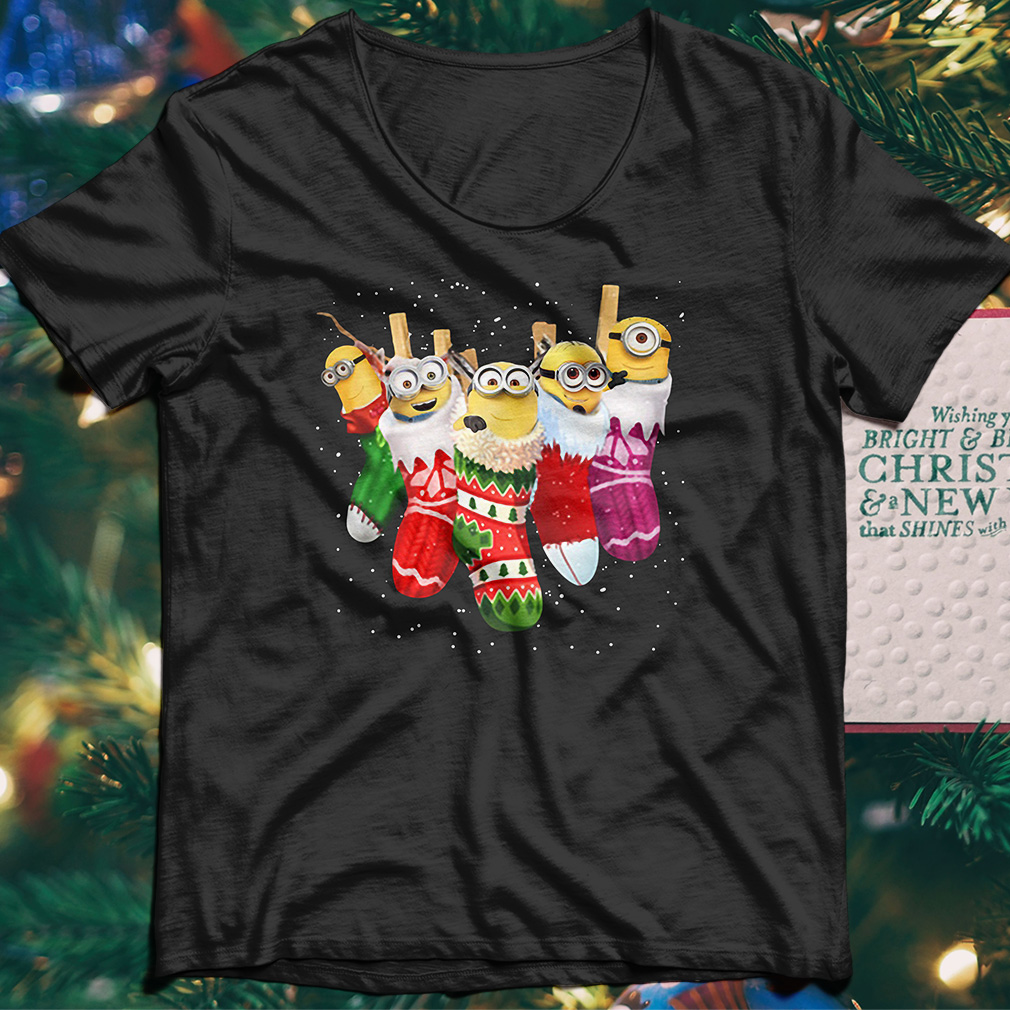 Despicable Me Minion in socks Christmas shirt