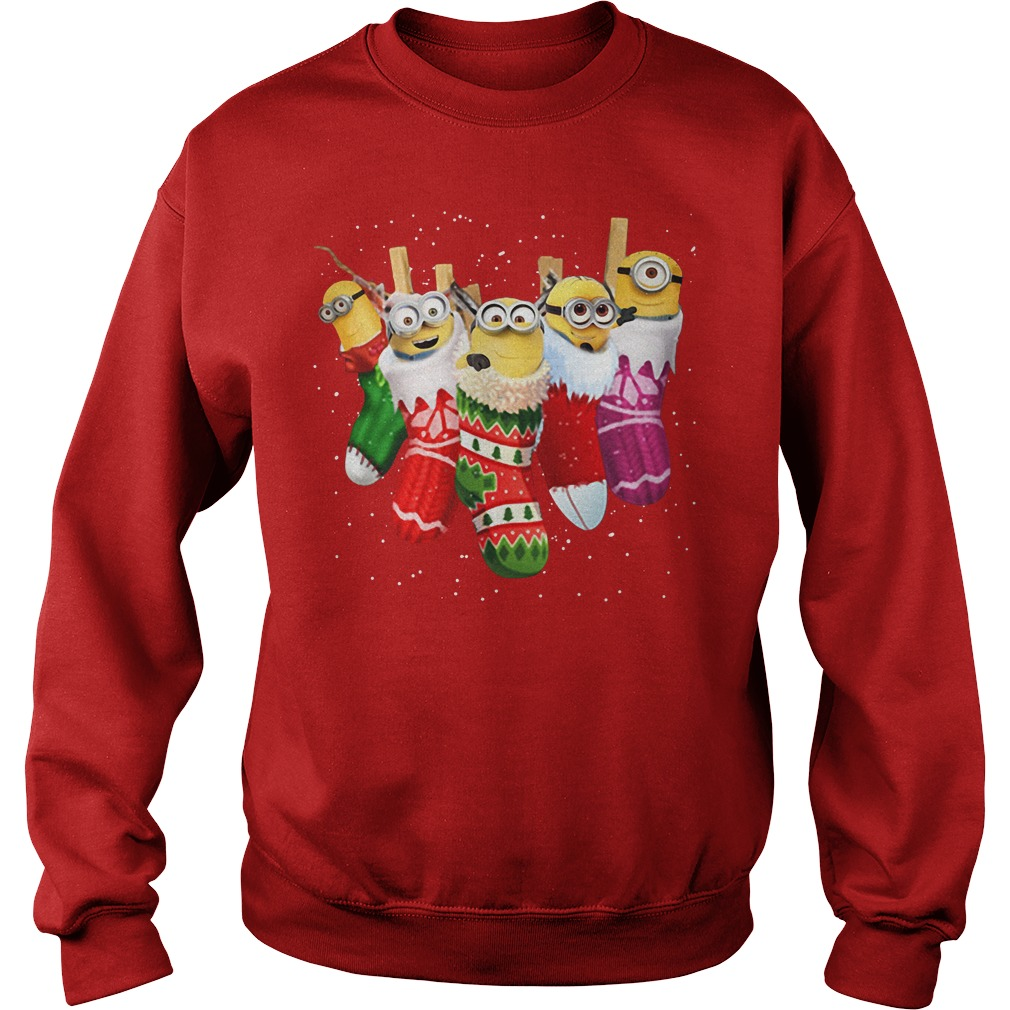 Despicable Me Minion in socks Christmas Sweater