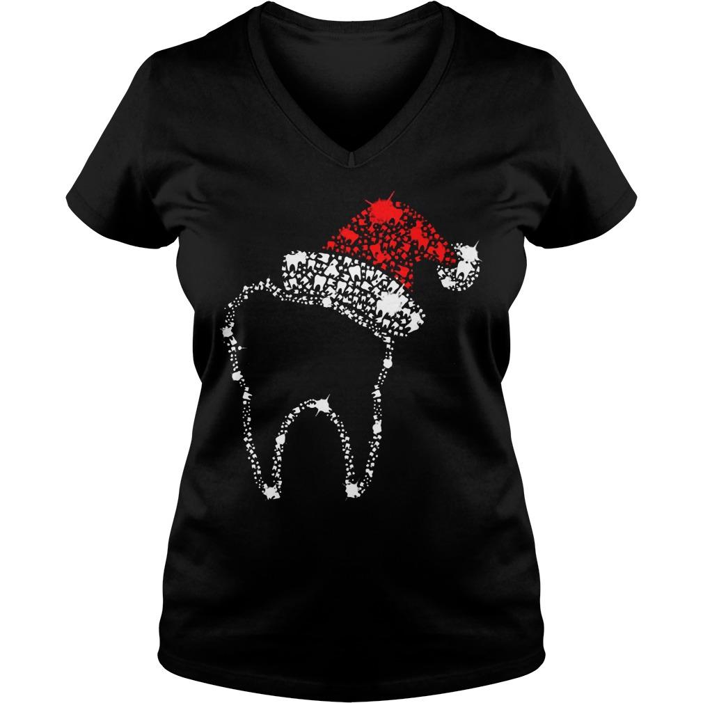 Diamond Teeth Santa V-neck T-shirt