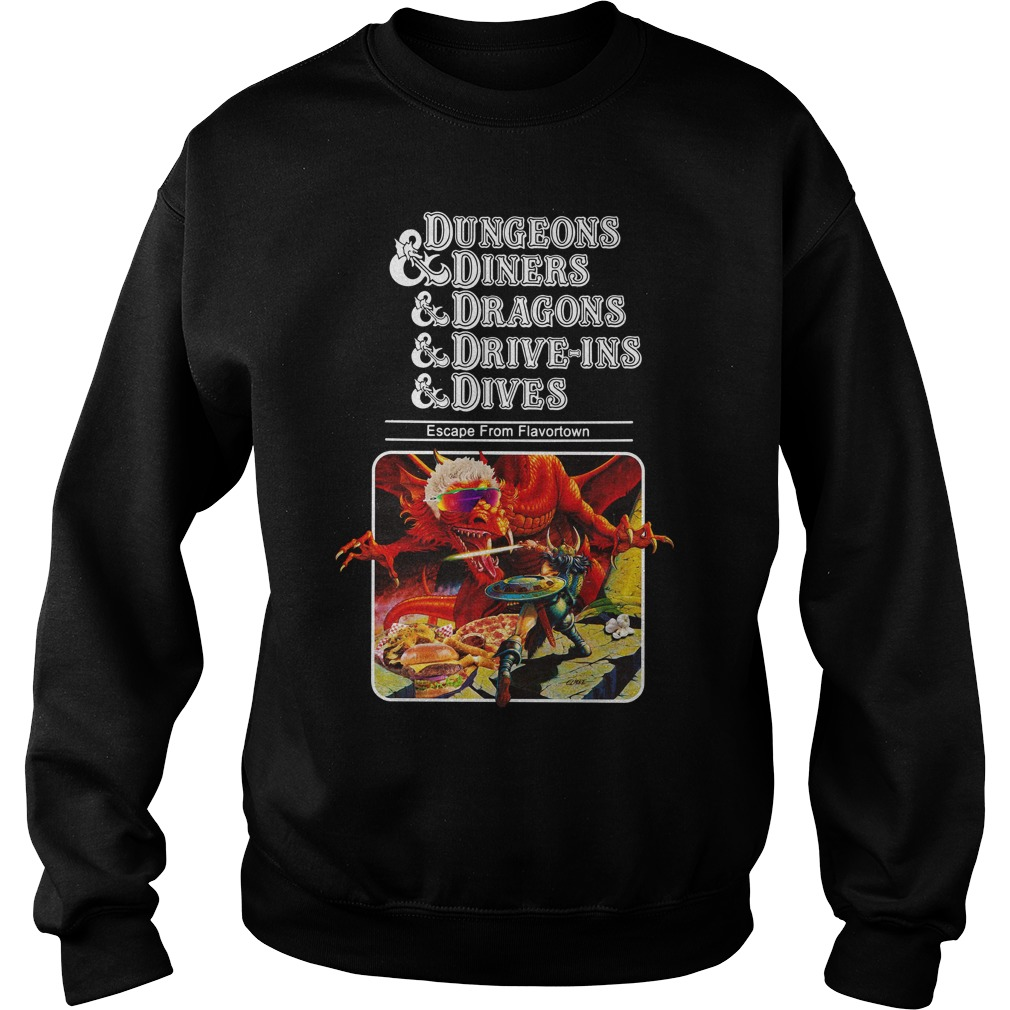 Dungeons Diners Dragons Drive Ins Dives Sweater