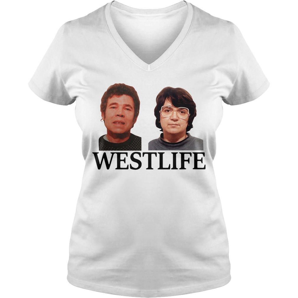 Fred and Rose West life V-neck T-shirt