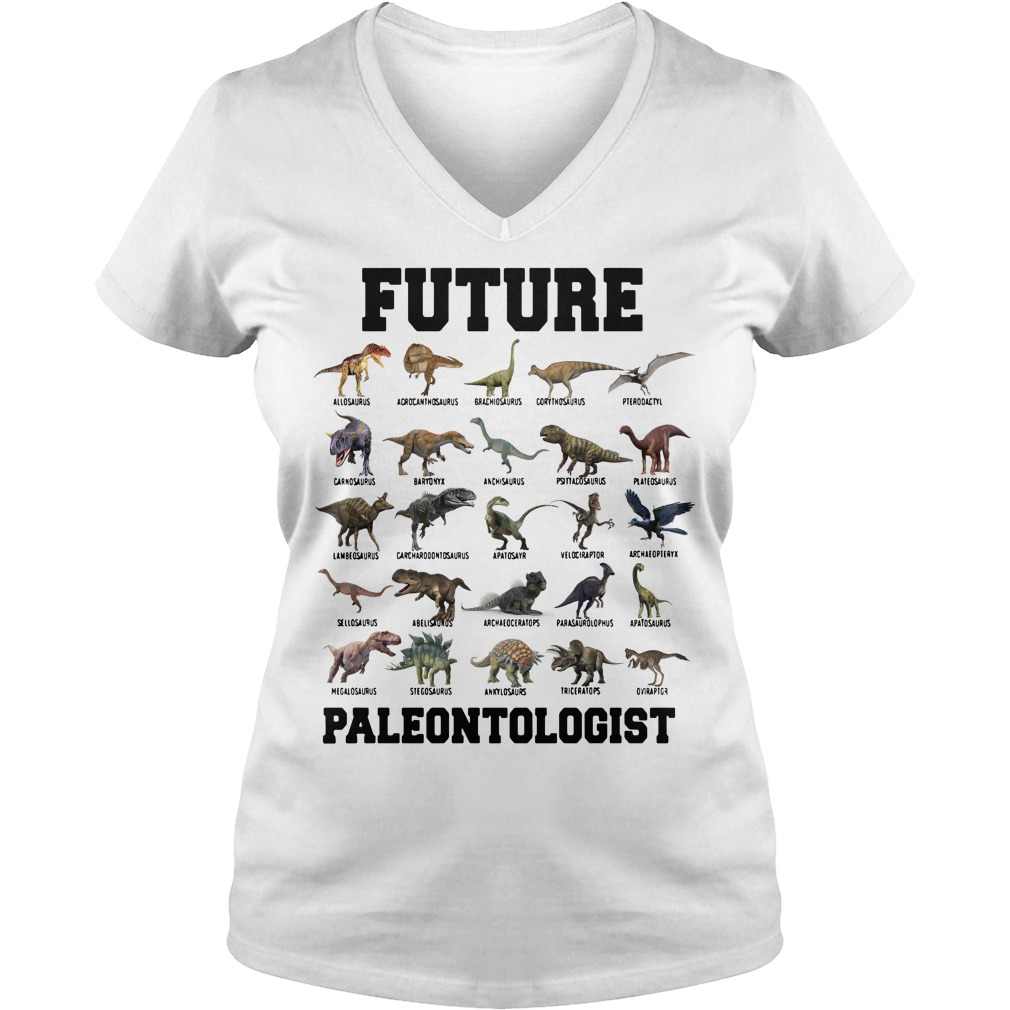 Future Paleontologist Cool Dinosaur Lover V-neck T-shirt