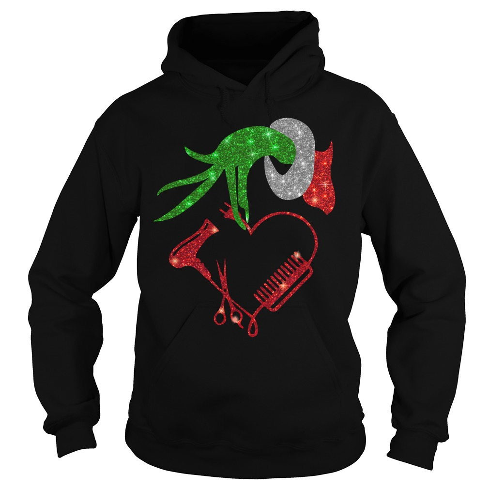 Grinch hand holding hair stylish Hoodie