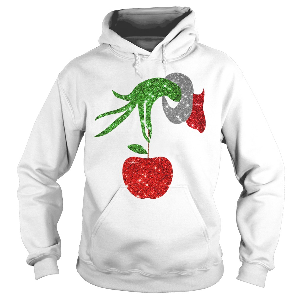 Grinch Hand Holds apples Hoodie