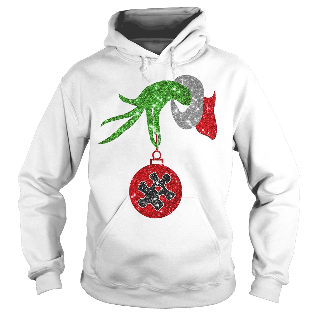 Grinch Hand Holds Twinkle Ornament Hoodie
