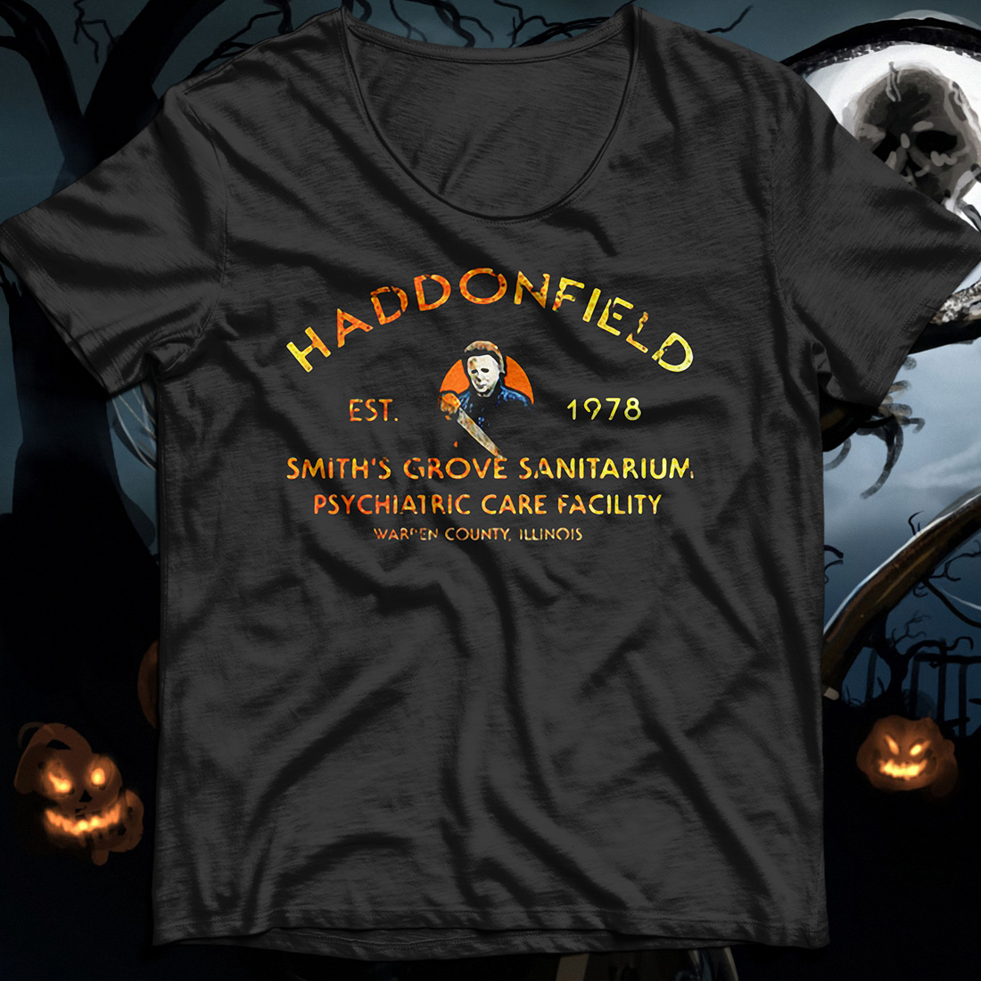 Haddonfield est 1978 smith's grove sanitarium psychiatric care facility shirt