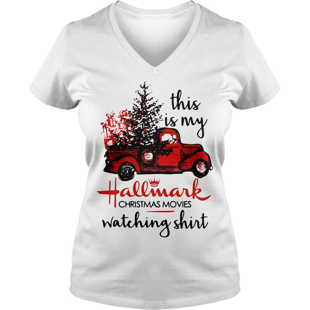 This is my Hallmark christmas movies watching V-neck T-shirt