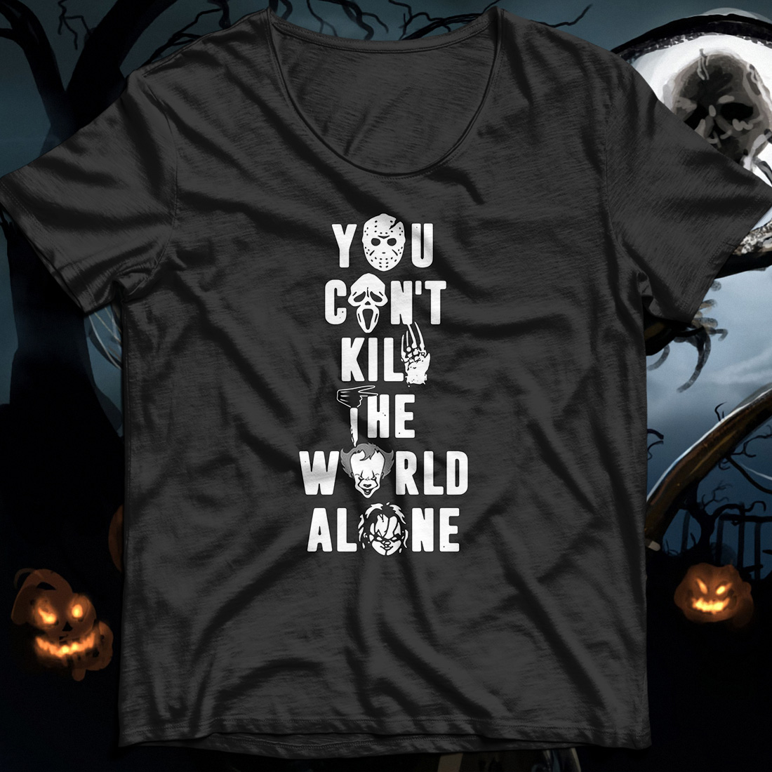 Halloween you can't kill the world alone shirt